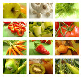 拼贴画果菜类 库存照片
