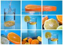 拼贴画柠檬 免版税图库摄影