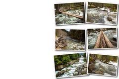 拼贴画流动一条快速的山河 库存照片