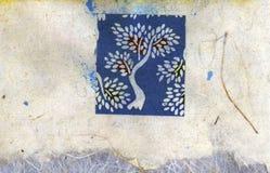 拼贴画结构树 图库摄影