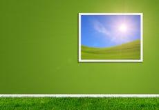 拼贴画绿色家 免版税图库摄影