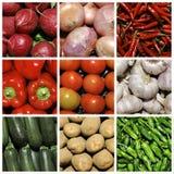 拼贴画蔬菜 库存照片