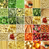 拼贴画食物 图库摄影