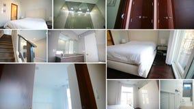 拼贴画卧室新的家 质量拼贴画住房 股票视频