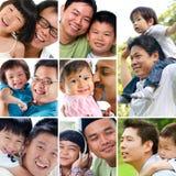 拼贴画照片父亲节概念。 免版税库存图片