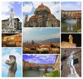 拼贴画佛罗伦萨 库存照片