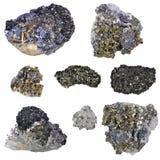 拼贴画硫铁矿 库存图片