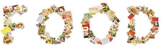 拼贴画食物菜单 库存照片