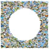 拼贴画许多照片 免版税图库摄影