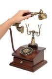 拾起古板的电话收货人 免版税图库摄影