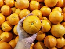 拾起市场的橙色肚脐 免版税库存图片