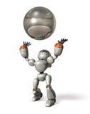 拿到球的机器人 免版税库存照片