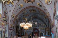 拿撒勒东正教Metropolite的内部在老城拿撒勒在以色列 免版税图库摄影