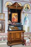 拿撒勒东正教Metropolite的内部在老城拿撒勒在以色列 图库摄影