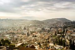 拿撒勒全景,以色列 免版税库存图片