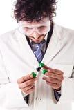 拿着三氯甲烷分子结构 免版税图库摄影