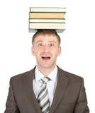 拿着人栈的书新 免版税库存照片