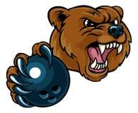 拿着保龄球的熊 向量例证