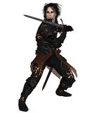 拿着剑的黑暗的战士 免版税库存图片