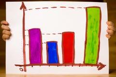 由大笔生意的一个孩子用图解法表示拉长 免版税库存图片
