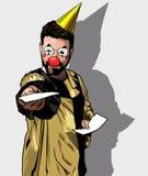 拿着在党的小丑邀请 库存图片