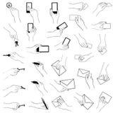 拿着姿态汇集的手 向量例证