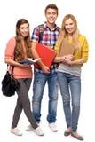 拿着学员的书 免版税库存图片