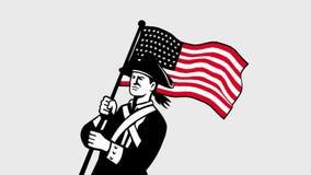 拿着我们的美国爱国者旗子第2动画