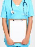 拿着护士符号 免版税图库摄影
