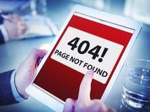 拿着数字式片剂禁止的网站的手 库存照片