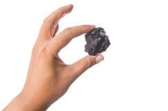 拿着木炭我 免版税库存图片