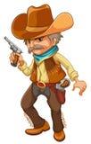 拿着枪的牛仔 库存例证