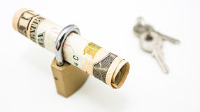 拿着现金 免版税图库摄影