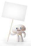 拿着空插件的蘑菇蘑菇 免版税库存照片