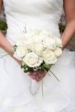 拿着花束的新娘 库存图片