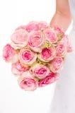 拿着花束的新新娘 库存图片