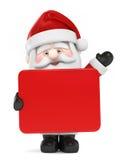 拿着董事会的圣诞老人 库存照片