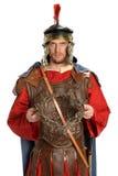 拿着铁海棠的罗马战士 库存照片