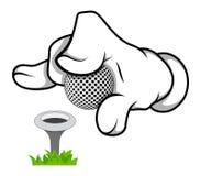 动画片手高尔夫球-传染媒介例证 免版税库存照片