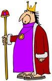拿着他的职员的国王 免版税库存照片