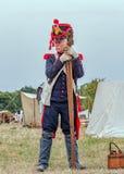 拿破仑似的时代法国火炮士兵 免版税库存图片