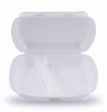 拿走包装在白色背景的快餐 免版税库存图片