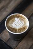 拿铁艺术咖啡 图库摄影