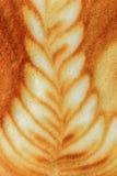 拿铁艺术咖啡 库存图片