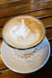 拿铁艺术rosetta,咖啡 库存图片