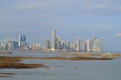 巴拿马城的地平线 库存图片