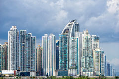 巴拿马城都市地平线 免版税库存照片