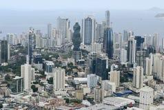巴拿马城,巴拿马鸟瞰图  免版税库存照片