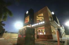 巴拿马城,巴拿马3月9日:在高c的新的汉堡王大厦 免版税库存图片