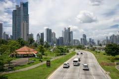 巴拿马市路 库存照片